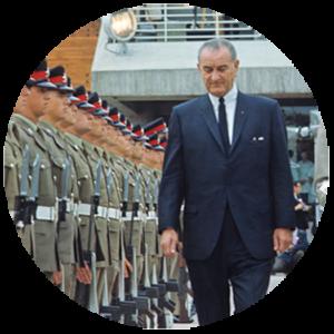 Lyndon B. Johnson, président des États-Unis d'Amérique
