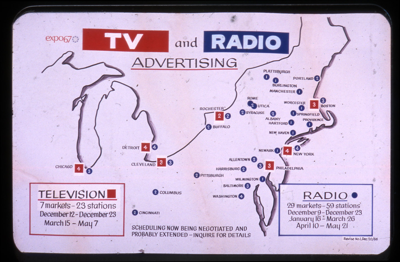 Image provenant d'un diaporama sur la promotion publicitaire d'Expo 67, 20 décembre 1966.