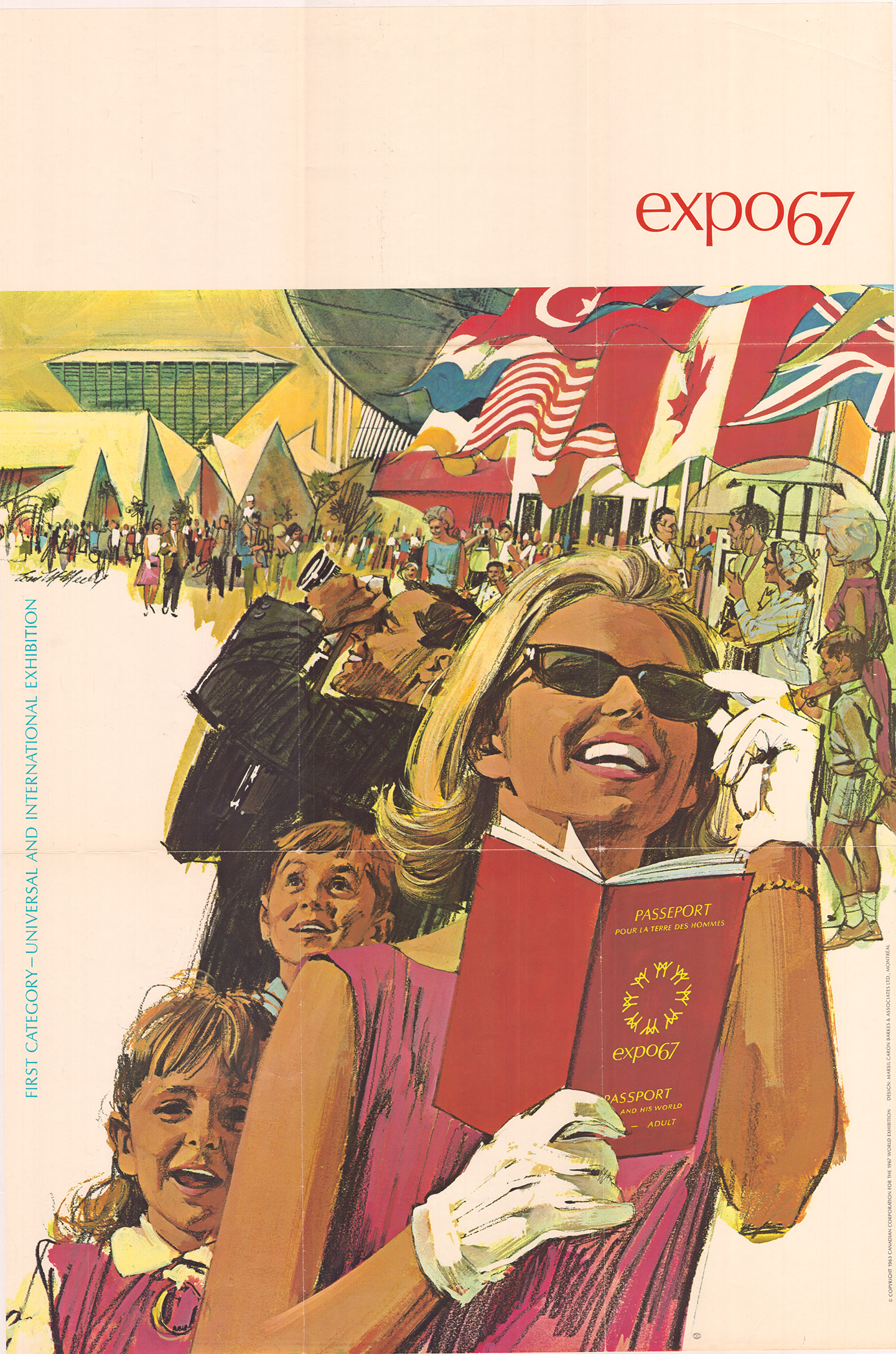 Affiche d'Expo 67, vers 1966.