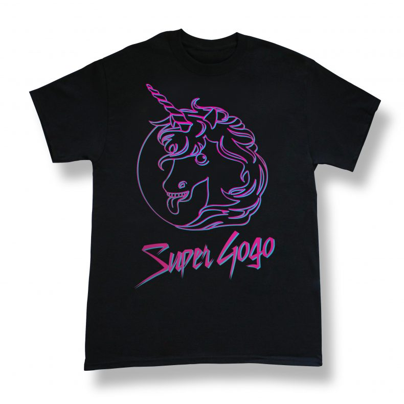 T-shirt Super Gogo Licorne | Boutique La Ruelle